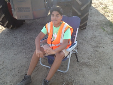 Diego, one of our new Freshman directing traffic